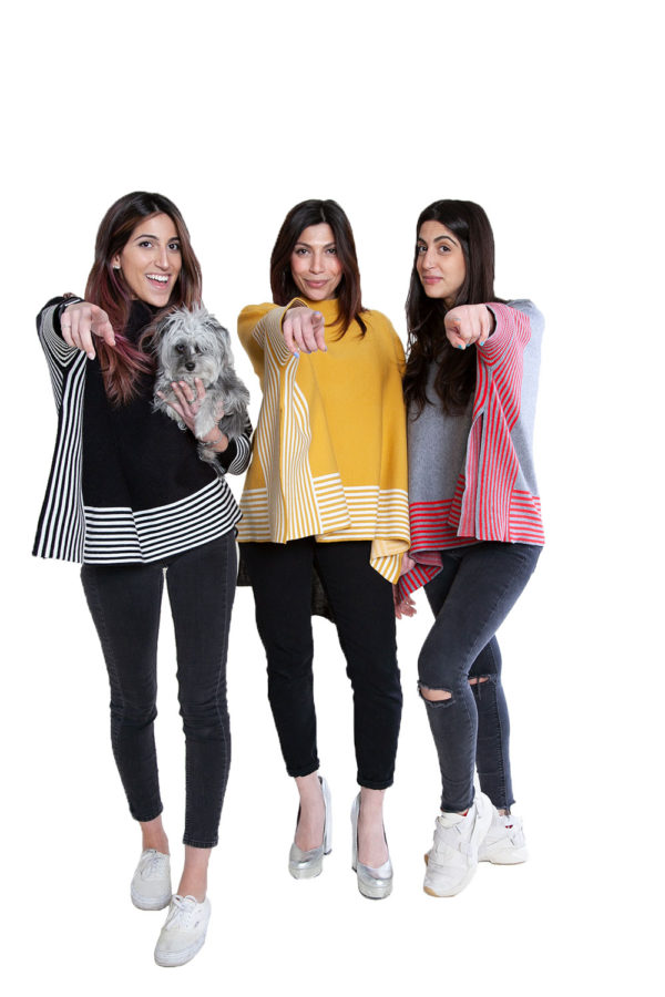 striped sweaters- front