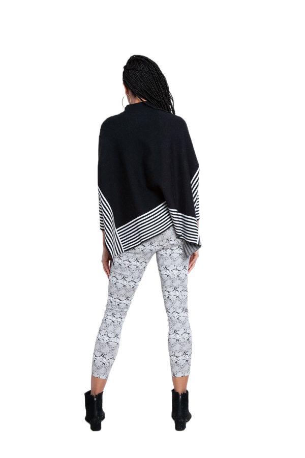 black striped sweater- back