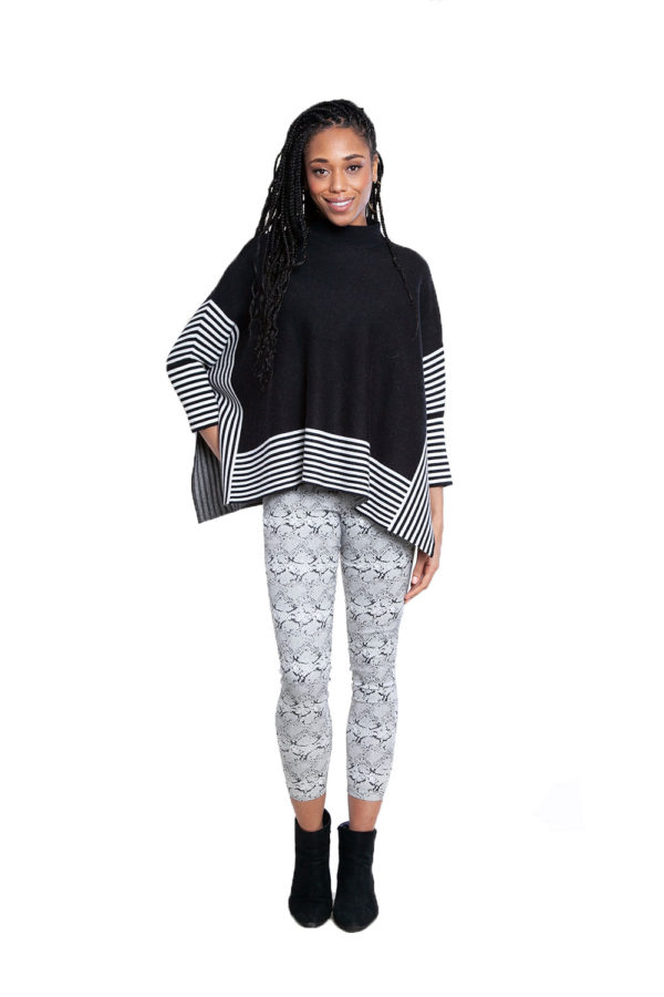 black striped sweater- front
