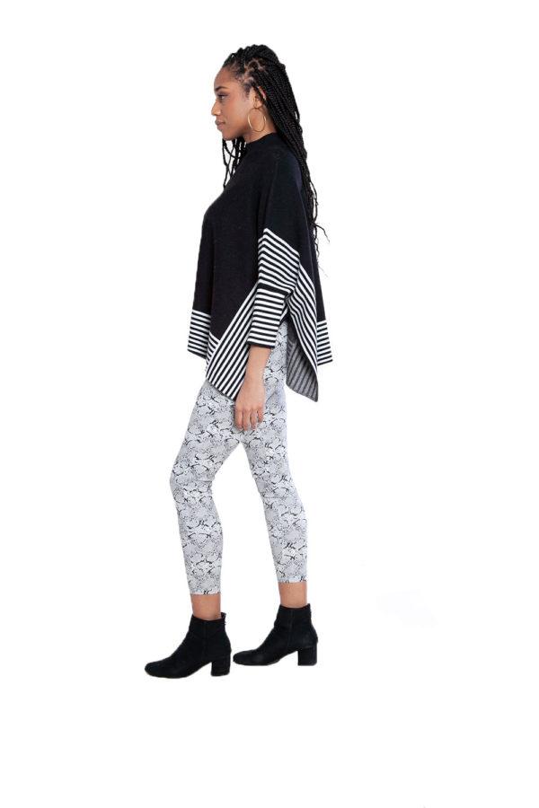 black striped sweater- side