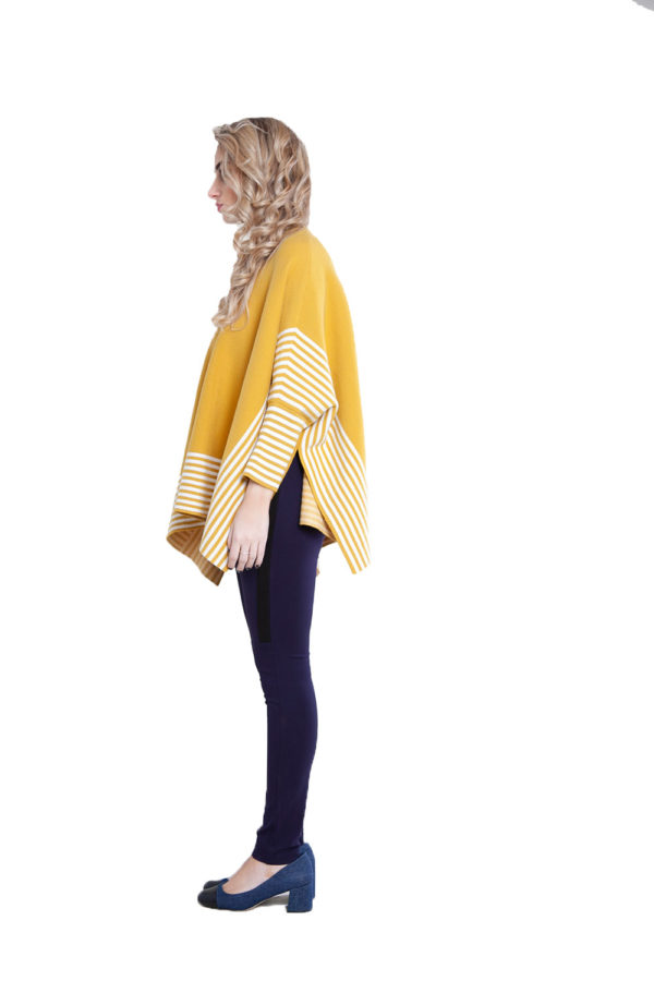 yellow striped sweater- side