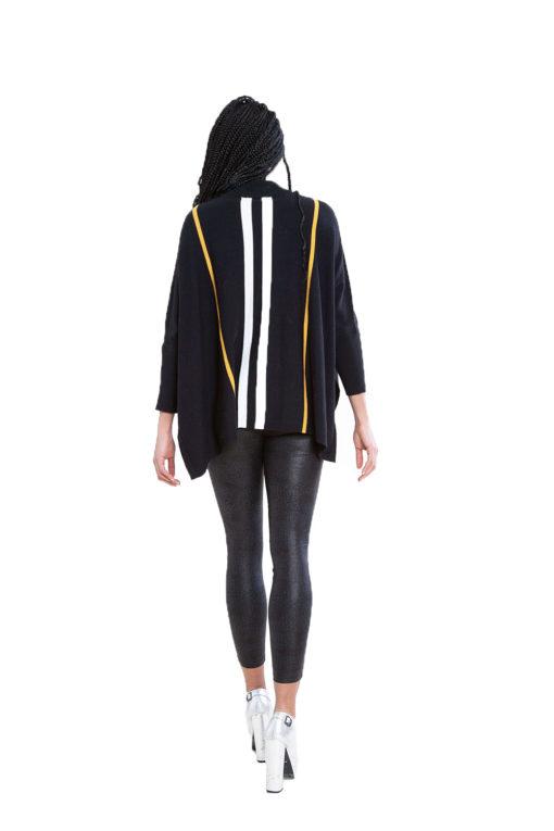 black striped oversized sweater- back