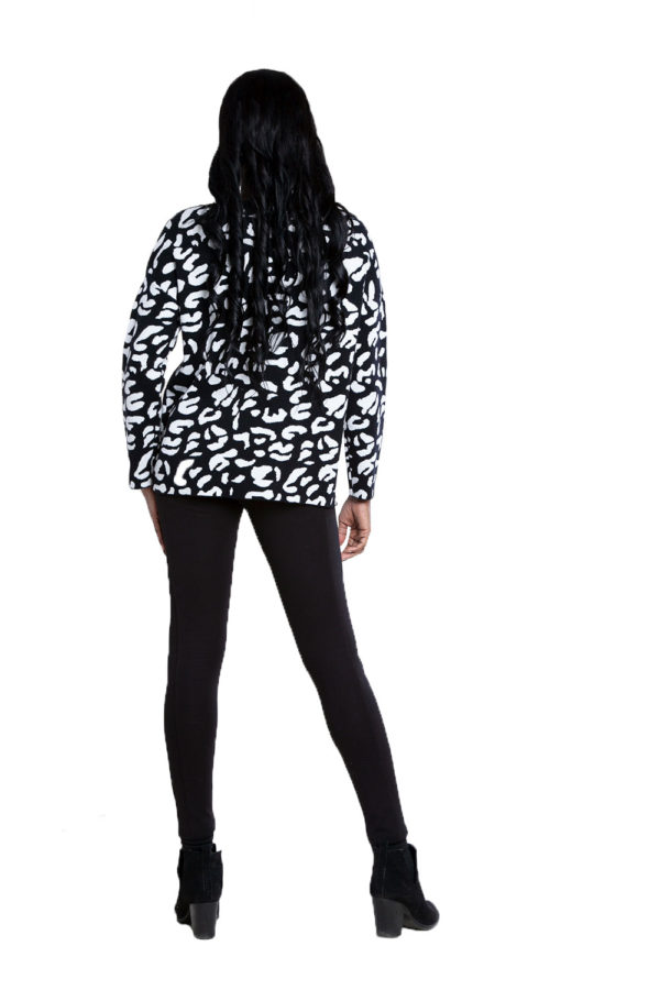 black leopard sweater- back