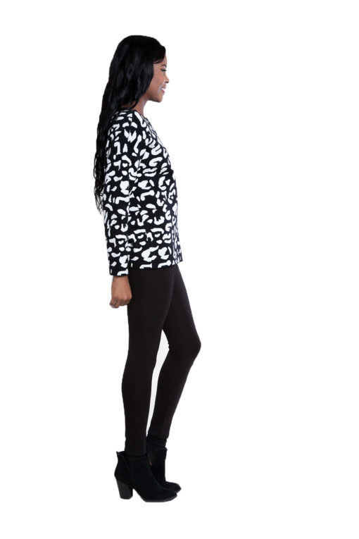 black leopard sweater- side