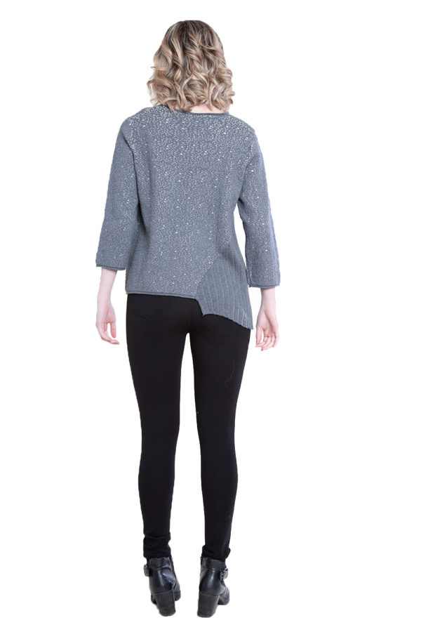 grey pleat front top- back
