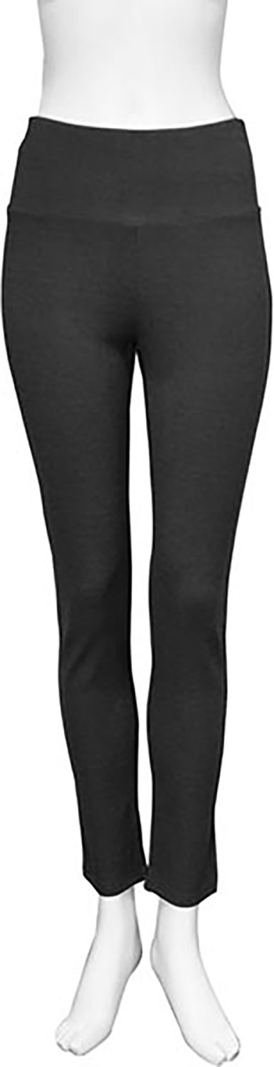 basic charcoal grey leggings- front