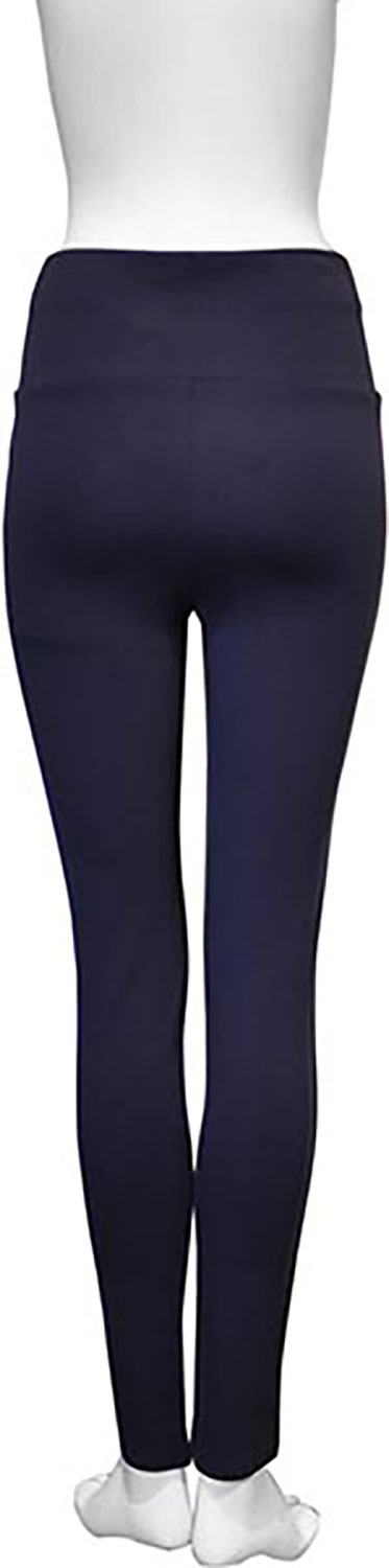 basic navy blue leggings- back