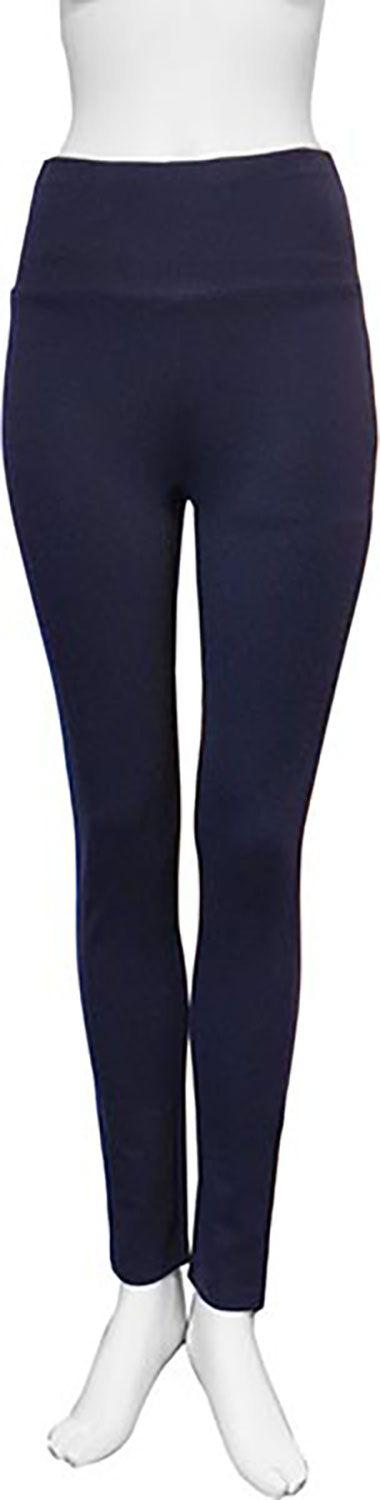basic navy blue leggings- front