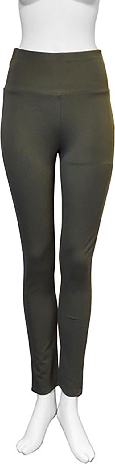 basic olive green leggings- front