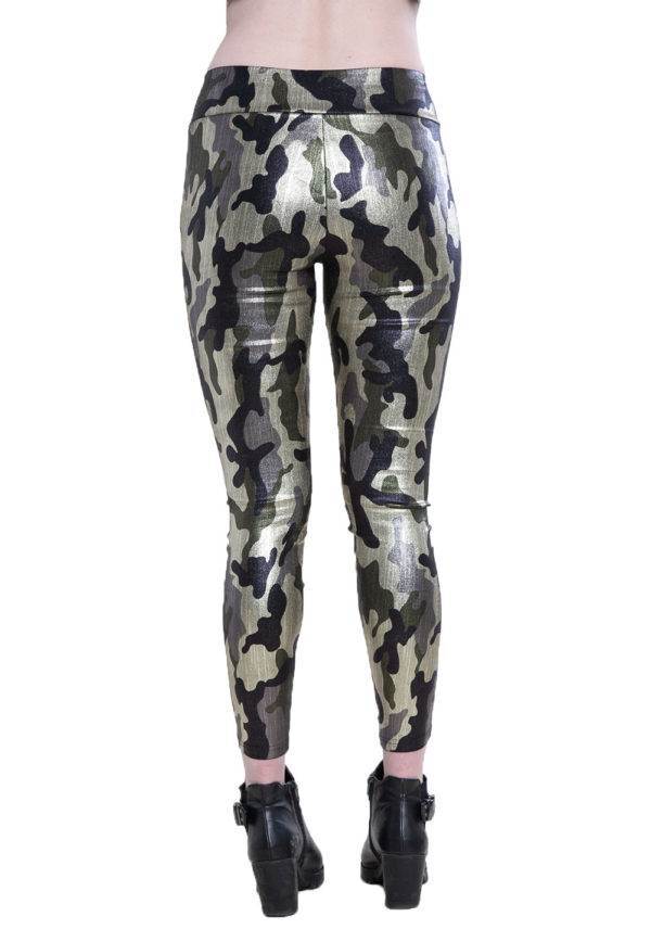 camouflage printed leggings- back