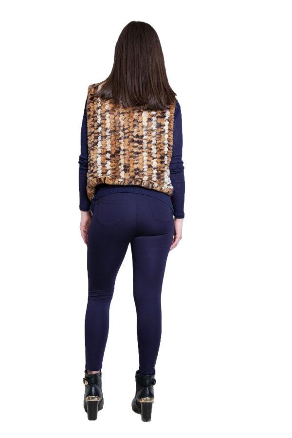 cheetah faux fur pullover- back