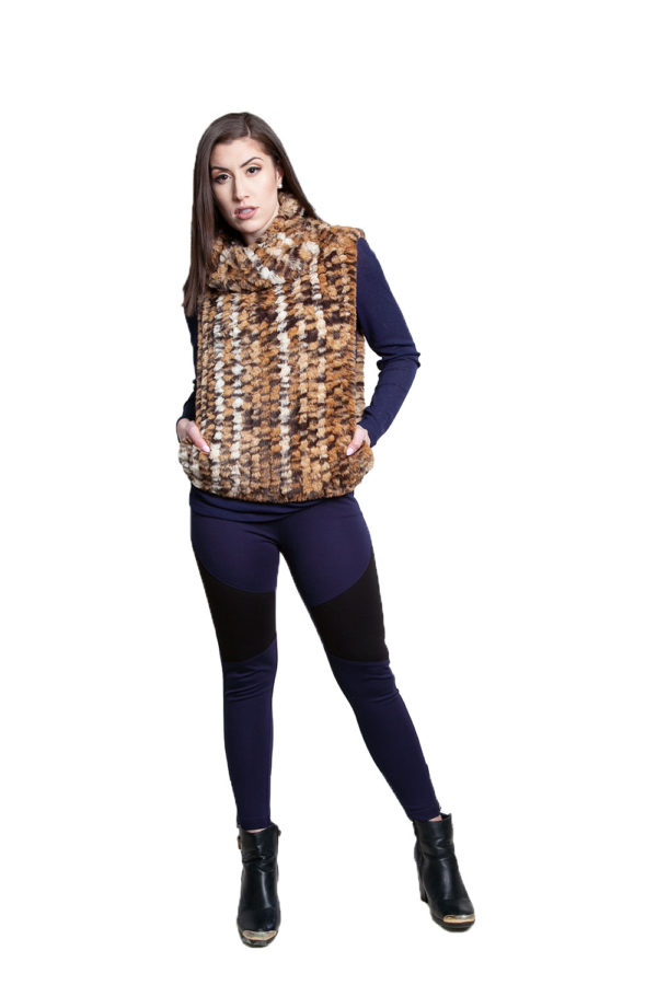 cheetah faux fur pullover- front