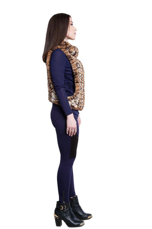 cheetah faux fur pullover- side