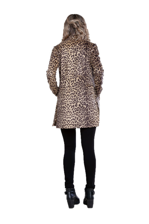 beige animal print jacket- back