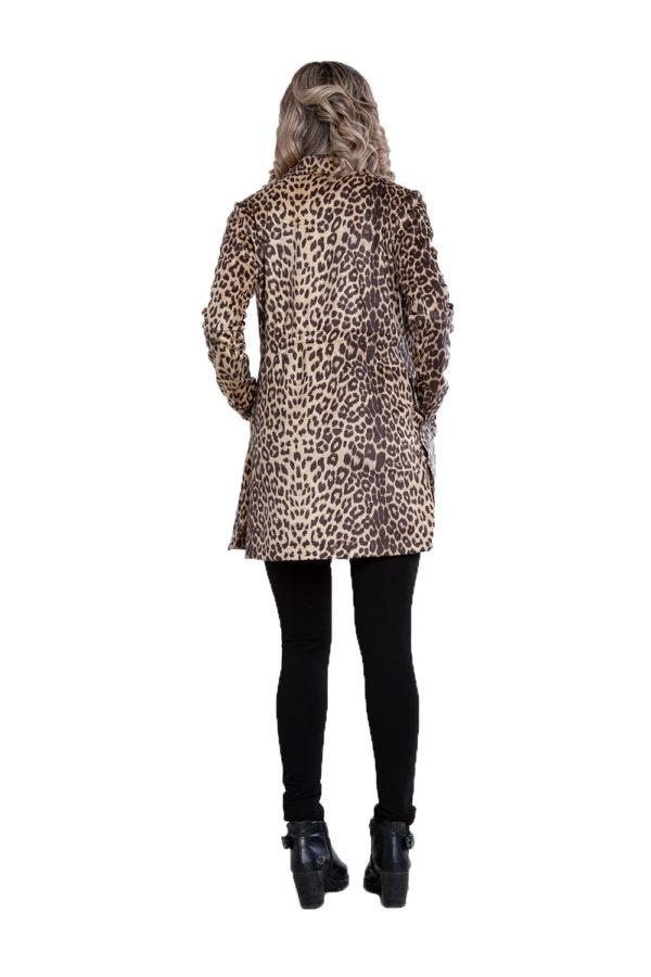 beige animal print jacket- back