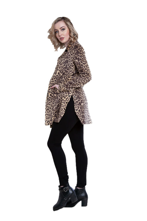 beige animal print jacket- side
