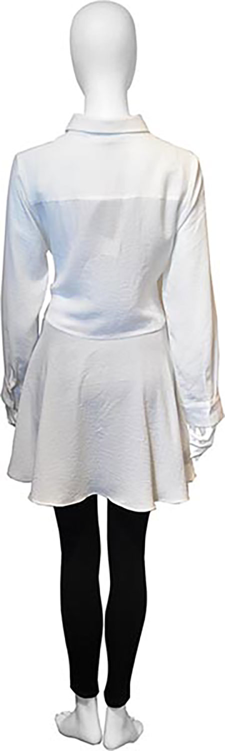 tie front white blouse- back