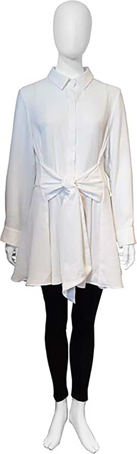 tie front white blouse- front