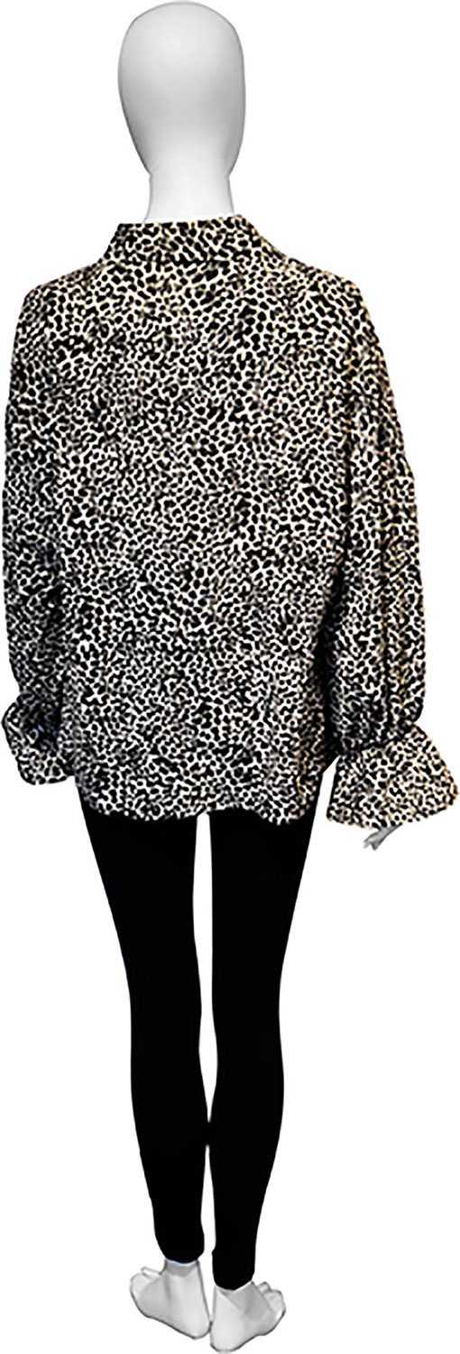 black leopard blouse- back