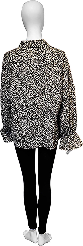 black leopard blouse- back