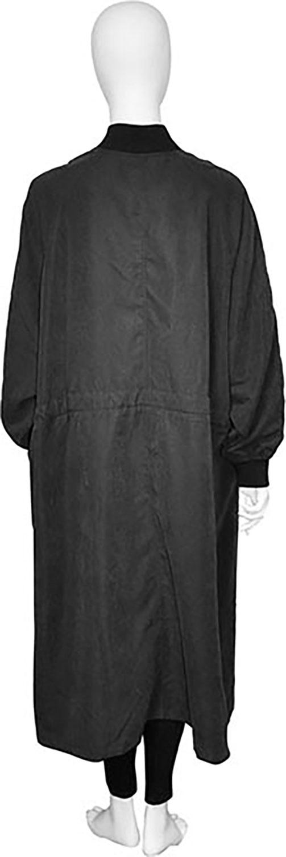 oversized black jacket- back