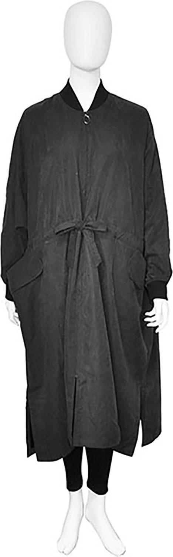 oversized black jacket- front