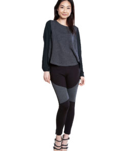 twofer chiffon back top- front