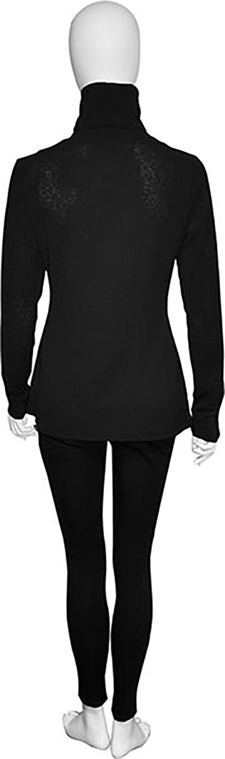 lightweight black turtleneck- back