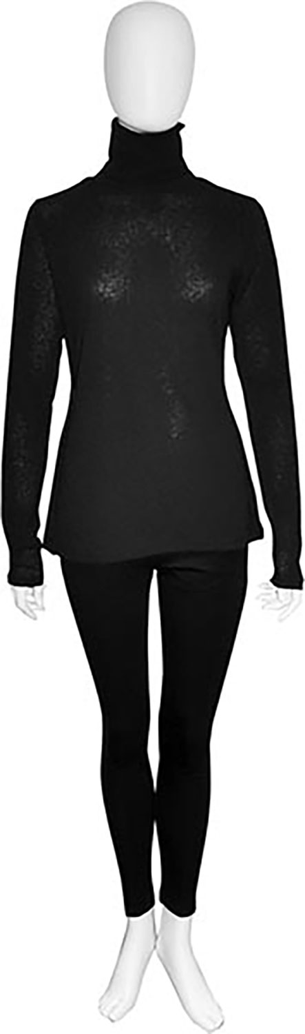 lightweight black turtleneck- front