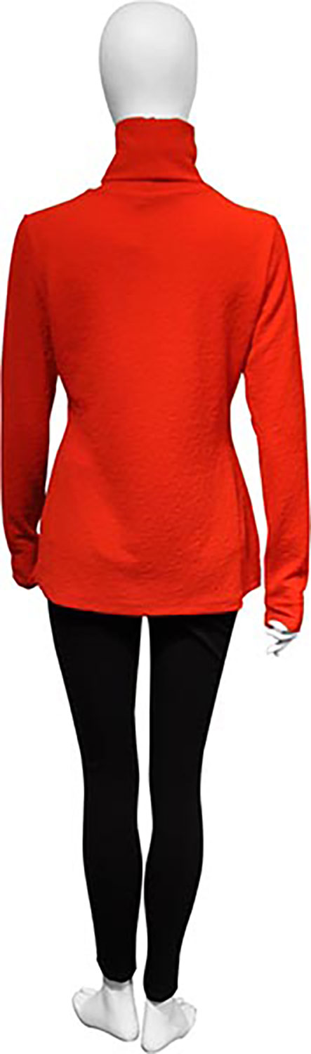 lightweight red turtleneck- back