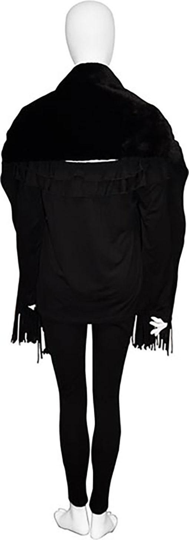 black faux fur scarf- back