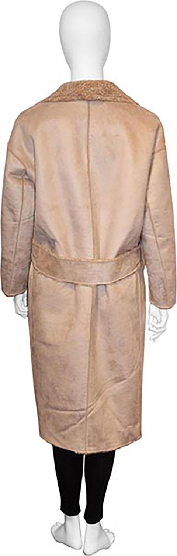 reversible beige open coat- back