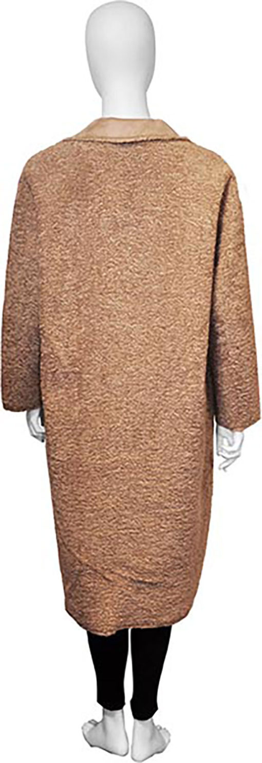 reversible beige open coat- back