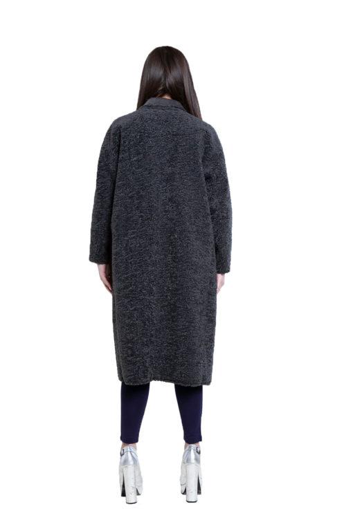 reversible grey open coat- back