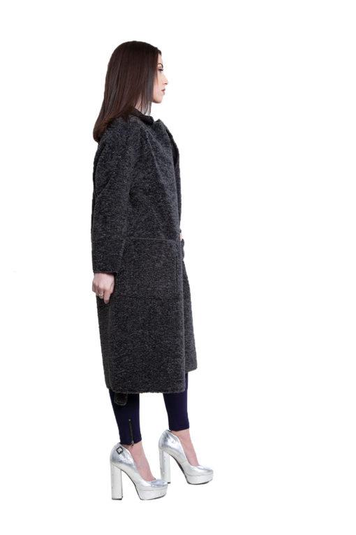 reversible grey open coat- side
