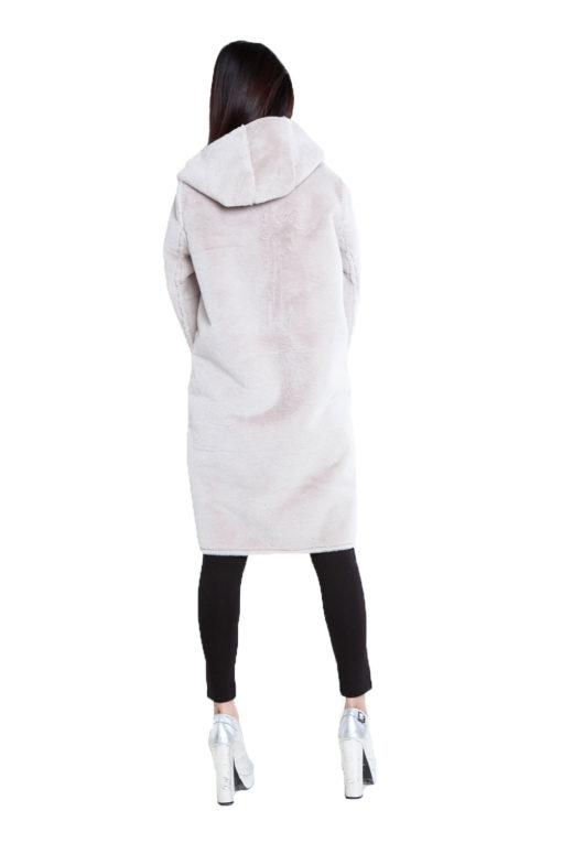 reversible beige coat- back