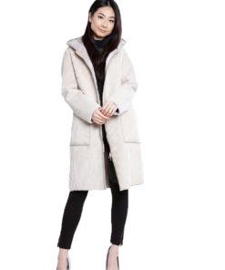 reversible beige coat- front