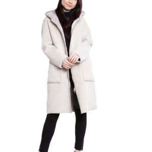 reversible beige coat- front
