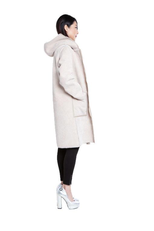 reversible beige coat- side