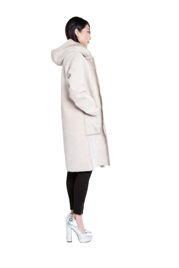 reversible beige coat- side