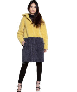 yellow and grey reversible jacket- front