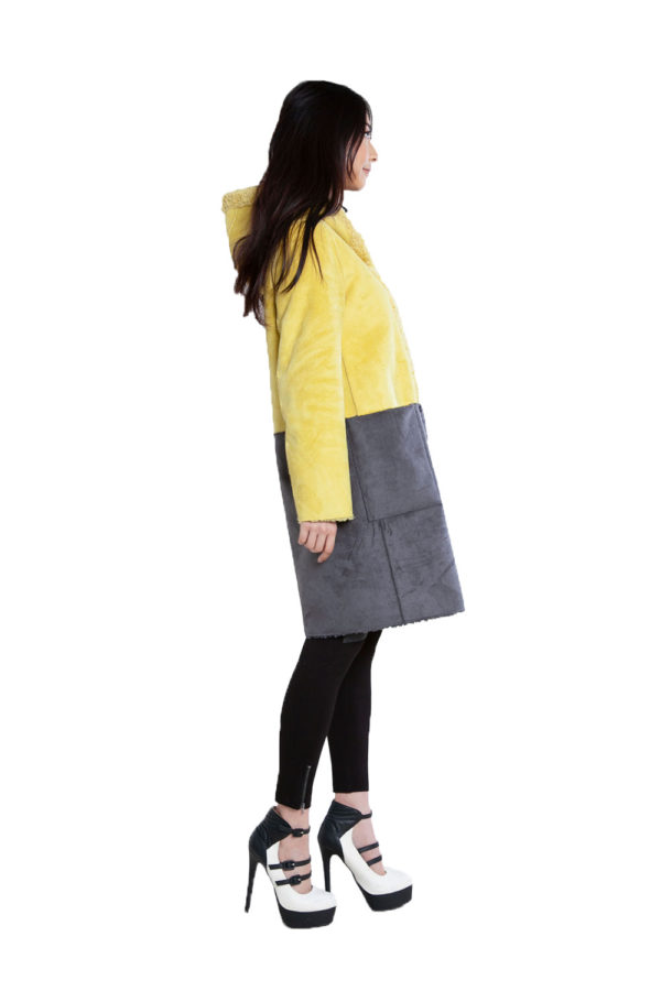 yellow and grey reversible jacket- side