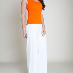 ORANGE KNIT TANK- SIDE
