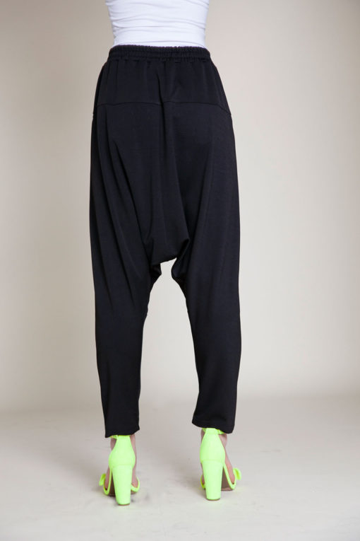 black jogger pants- back
