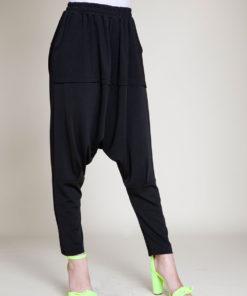 black jogger pants- front
