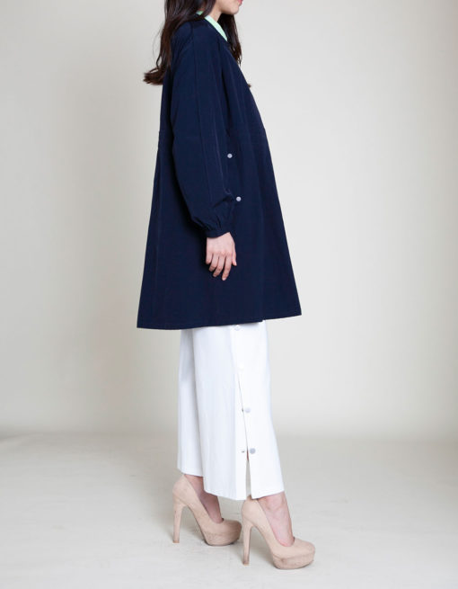 NAVY COLLARED JACKET- SIDE
