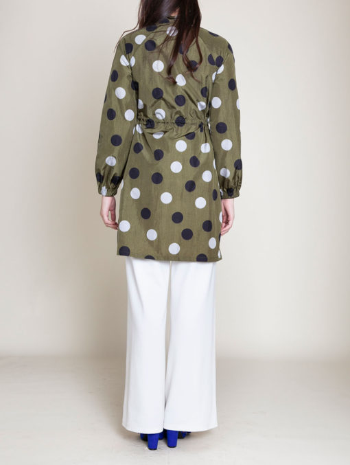 OLIVE DOT JACKET- BACK