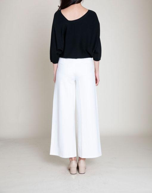 black slouch knit top- back