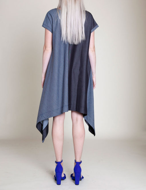denim blue tunic dress- back
