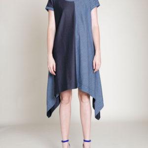 denim blue tunic dress- front